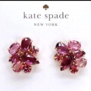 NWT Kate Spade Cluster Stud Earrings-Berry/Multi